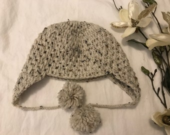 Knitted kid's Winter Hat with ears multi color