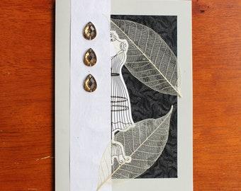 Steampunk Autumn Greeting Card, Blank Inside