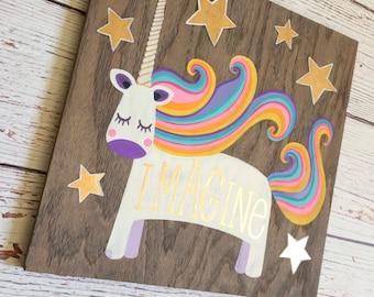 Unicorn - Unicorn Decor - Girls Room Decor - Unicorn Decorations - Rainbow Unicorn - Rainbow Decor  - Gift for Girls - Unicorn Baby Shower
