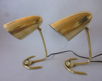 Pair Of Table Lamp Mid Century Modernist Bed Lamp Tischleuchte Nachttischleuchte