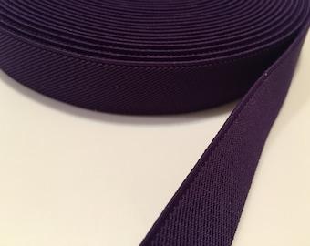 1 in royal purple suspender elastic,1 in waistband elastic, elastic by the yard, wholesale elastic