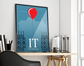 IT | Stephen King | Minimalist | Poster Print Design | A0 A1 A2 A3 A4