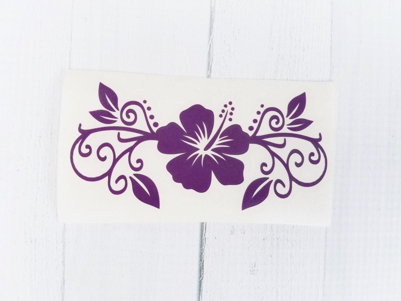 Hibiscus flower decal hibiscus decal flower vinyl decal zoom izmirmasajfo