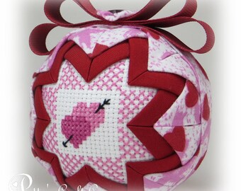Valentine's Day Ornament - Quilted Ornament - Be Mine