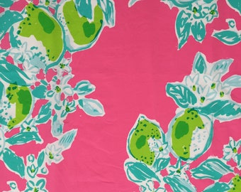 """pink lemonade organic cotton fabric square 10""""x10"""" ~ lilly spring 2018 ~ lilly pulitzer ~ pottery barn"""