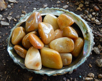 Tumbled Yellow Jasper Gemstones - Rocks and Minerals - Tumbled Gemstone - Natural Stone - Healing Crystals