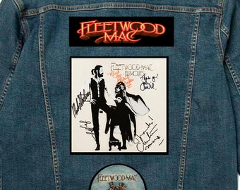 Ultimate Fleetwood Mac Rumours Battle Jacket/Vest with Band Signatures on Album Patch