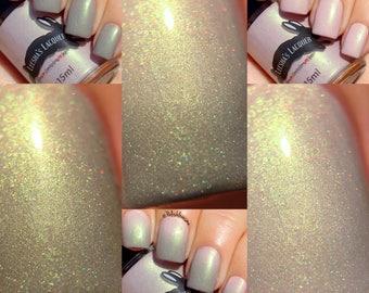 Tourmaline - Geode & Gemstone Thermal Nail Polish, pink and grey shimmer nail polish