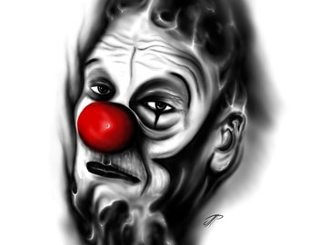 Happy Clown, Happy clown/abstract/abstract/surreal/digital Art