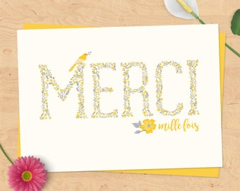 """""""Thanks"""" thank you card - birth, wedding - country Collection gift"""