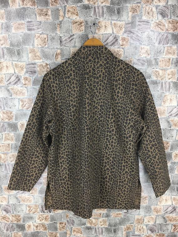 Fendi Leopard Couture Medium LEOPARD Jeans Jacket Cheetah Size Jacket Coat Zucca Stripes Roma M Italy Vintage Fendi Button FENDI 0wzAxIEnq0