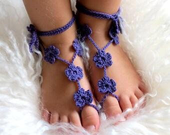 Baby Barefoot Sandals- Beach Wedding- Baby Foot Jewelry- Footless Sandals- Barefoot Wedding Sandals- Flower Girl Gift- Birthday Gift