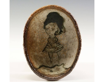 Oval Wood Kiln Fired Pinch Bowl by Jenny Mendes - Girl And Her Kitten