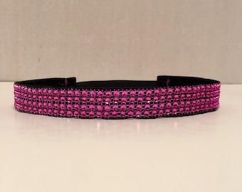 Hot Pink Sparkle Headband, Sparkle NonSlip Headband, Headband, Nonslip Headband, Sports Headband, Fitness Headband