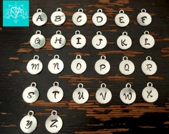 Add a Hand Stamped Initial Charm