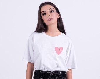 Spread love Pink heart