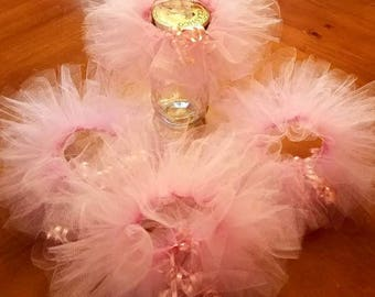 Mason jar Tutus 10 for 47.00 and free domestic shipping/wedding / Baby Shower /any occasion favors