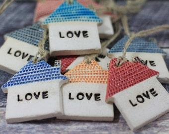 Love house ornament Wall ornament  Holidays decor Wall hanging Fathers day gift