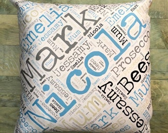 Personalised Word Cushion