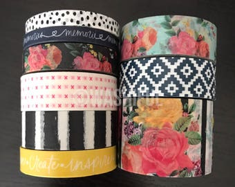 """24"""" SAMPLES of the paper studio petals + blooms floral washi tape (M168)"""