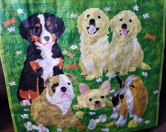 Cute reusable doggy tote bag