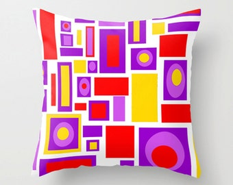 Pillow Mid Century Modern Pillow Cover Cushion Cover Home Decor Geometric Living Room Decor  Retro  Bedroom Decor House Warming Gift