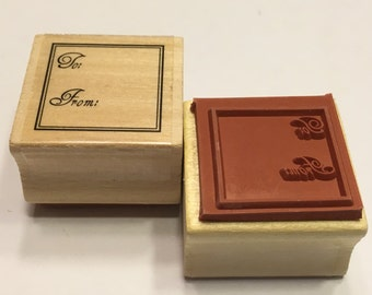 To, From, rubber stamp, 25 mm (BR88)