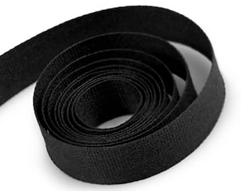 Black Cotton Twill Ribbon 19mm Wide x 45 Metre Roll