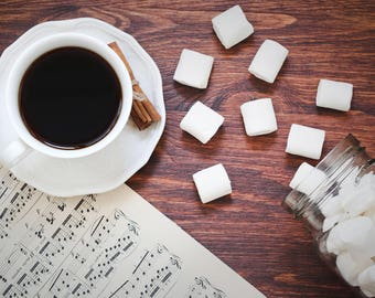 Coffee and cinnamon photo Cup of coffee photo Photo marshmallow Coffee photo Coffee mug photo Photo for cafe Still life photo White cup