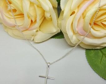 Simple cross at 925 Sterling SilberErbskette