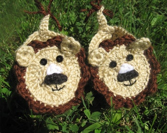 Crocheted Lion Baby Booties, Crocheted Baby Booties, Crocheted Lion