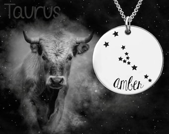 Taurus Zodiac Necklace | Taurus Constellation Necklace | Astrology Jewelry | Personalized Gifts | Korena Loves
