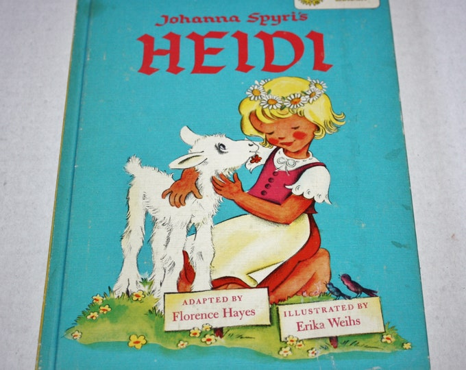 Dandelion Library - Heidi/The Story of Babar 2 in 1 Flip Book HC 1960's