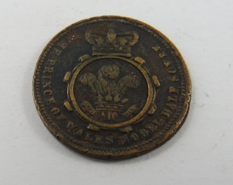 The Prince of Wales Half Sovereign Token Undated.