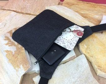 Waist pocket, HipBag, waist pocket, hip pocket, jeans, black,