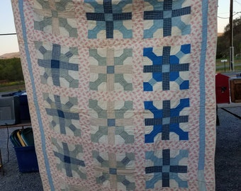 Beautiful Vintage Handsewn Quilt