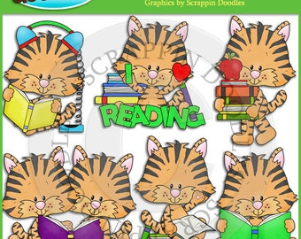 Tiggy Tiger Loves To Read Clip Art
