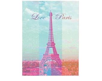 Paris Eiffel Tower Digital Graphic Art for printing on (Paper, Canvas,T-shirts, Mugs, Notebook) files: JPG