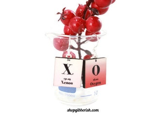 XOXO - Love Chemistry Earrings//Valentines Day//Womens Jewelry//Science Jewelry