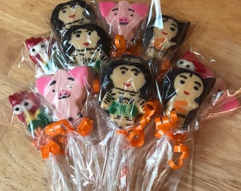 Moana Chocolate Lollipops
