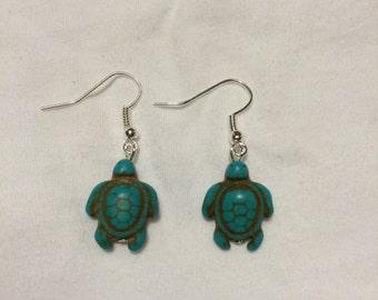 Turquoise Sea Turtle Earrings