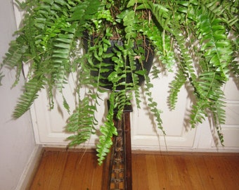 Vintage Bamboo Plant Stand or Candle Holder, Porch Decor, Asian Design, Oriental Design, Bamboo Fern Stand, Wedding Gift