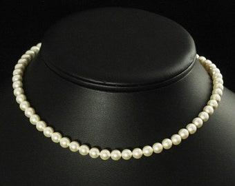 Flower Girl Pearl Necklace, Flower Girl Jewelry, Gold Girls Pearl Necklace, Children's Pearl Necklace, Wedding Jewelry