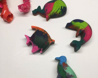 Animal Crayons, Ocean Party, Children's Party, Party Favors, Ocean Crayons, Fish Crayons, Penguin Crayons, Whale Crayons, Dolphin Crayons,