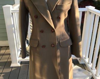 Vintage 90's Camel Wool full length coat