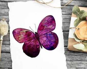 Watercolor Butterfly Nursery Print, Butterfly Print, Watercolor Print, Nursery Decor, Wall Art, Digital Download, Instant Art, Playroom Art
