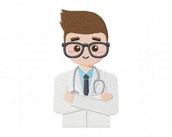 Boy Hospital Doctor Machine Embroidery Design