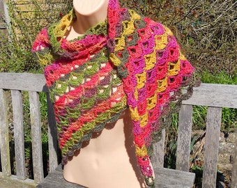 Hand-Crocheted Triangle Shawl