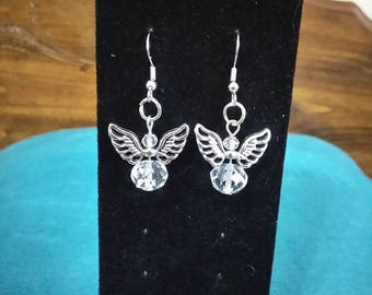 cute angel earrings
