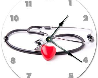 "10.5"" STETHOSCOPE Clock - Living Room Clock - Large 10.5"" Wall Clock - Home Décor Clock - 5826"